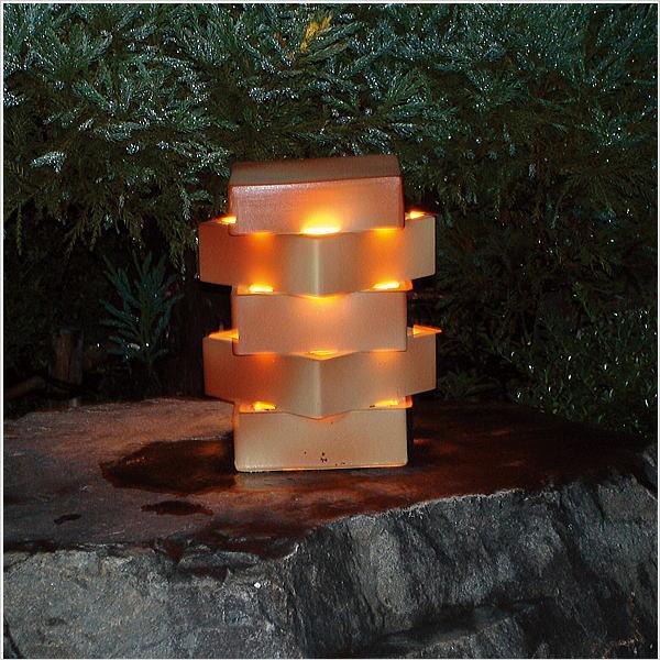 LED新信楽のあかり 素焼ガーデンライト|ブリックアート