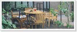 天然木製ガーデン家具ファニチャー